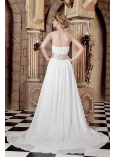 Simple Chiffon Maternity Bridal Gowns for Plus Size