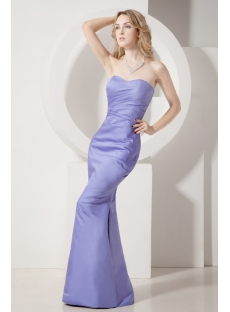 Simple Sheath Lavender Graduation Gown