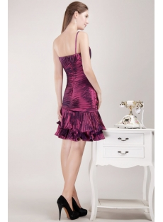 Spaghetti Straps Grape Cute Junior Prom Dress