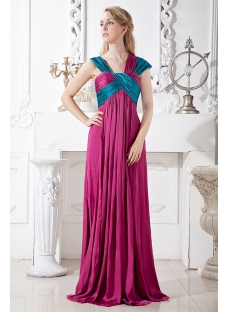 Special Colorful Evening Dress for Plus Size