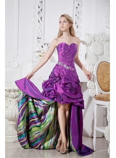 Special Colorful Quinceanera Dress with High-low Hem