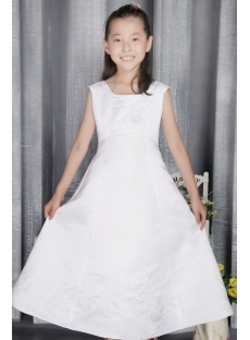 Square Satin Formal Flower Girl Dress 2741