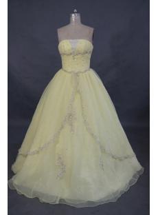 Strapless Floor-Length Taffeta Cheap Quinceanera Dress 01483