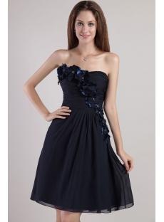 Strapless Little Black Homecoming Dress 2336