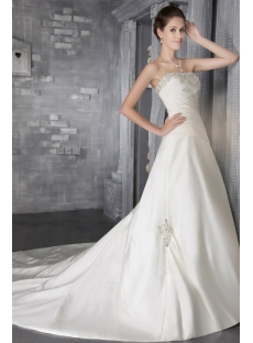 Strapless Satin Long Elegant Bridal Gown 2867