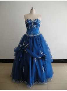 Strapless Sweetheart Floor-Length Satin Organza Plus Size Quinceanera Dress 3151