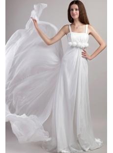 Straps Beach Wedding Dresses Casual 1947