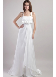 Straps Beach Wedding Dresses Casual 1947