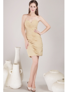 Stylish Sweetheart Club Mini Dress Champagne