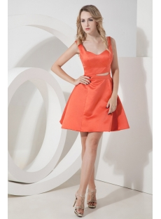Sweet Orange Short Homecoming Dress