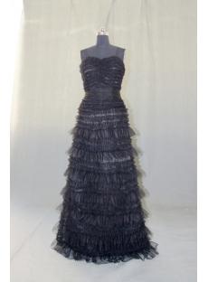 Sweetheart Floor-Length Satin Organza Prom Dress 04905