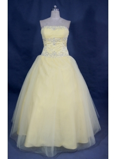 Sweetheart Floor Length Satin Tulle Quinceanera Dress With Ruffle Beading 02226
