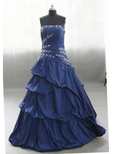 Sweetheart Floor Length Taffeta Quinceanera Dress With Ruffle Beading 02588