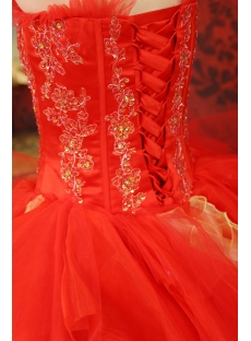 Sweetheart Organza Quinceanera Dress With Embroidered Ruffle Beading Sequins
