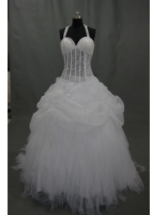 Sweetheart Organza Satin Wedding Dress With Beadwork Sequins 03475
