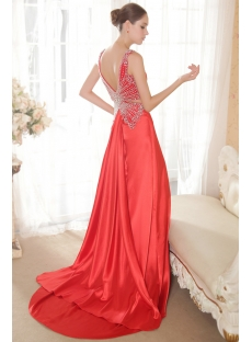 Tasteful Red Evening Dress 2013 Satin