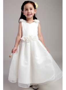 Tea Length Little Girls Flower Girl Dresses with Floral 2026