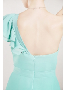 Teal Chiffon One Shoulder Evening Dresses for Women