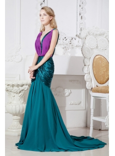 Teal Long Formal Mother of Brides Dress