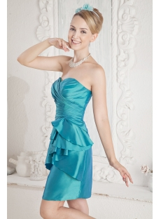 Teal Mini Cocktail Dress with Sweetheart