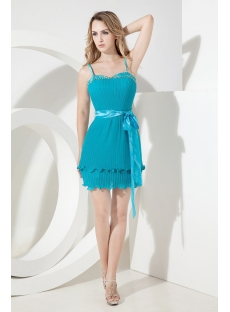 Teal Short Mother of Groom Gown