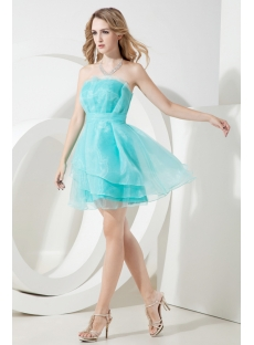 Turquoise Short Homecoming Dress Cheap