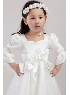 Western Flower Girl Dresses with Sleeves 2438