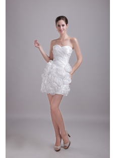 White Discount Mini Homecoming Dress 1217