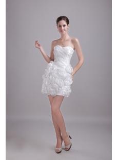 White Discount Mini Homecoming Dress 1217