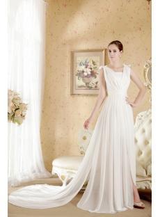 White Informal Beach Wedding Dresses Casual