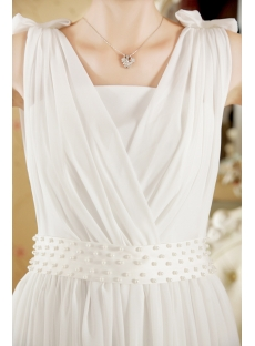 White informal beach wedding dresses casual 1st for Casual flower girl dresses for beach wedding