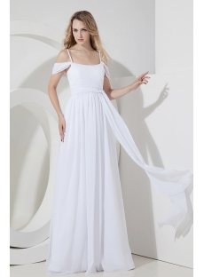 White Off Shoulder Beach Wedding Dress for Plus Size 1st-dress.com 9a2e37eff237