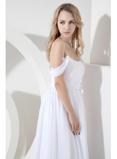 White Off Shoulder Beach Wedding Dress for Plus Size:1st-dress.com