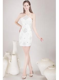 White Short Club Party Dress 4478