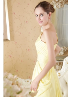 Yellow Column Formal Evening Dress with One Shoulder