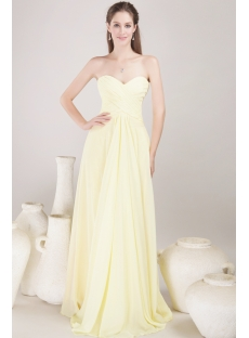 Yellow Empire Chiffon Evening Dress for Maternity
