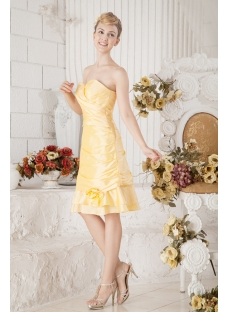 Yellow Taffeta Short Winter Formal Dresses with Jacket