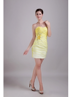 Yellow Unique Graduation Dress 1304