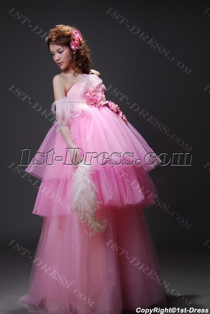 2fbaf0255ee1f A-Line Ball Gown One Shoulder Long / Floor-Length Satin Tulle Prom Dress  2210