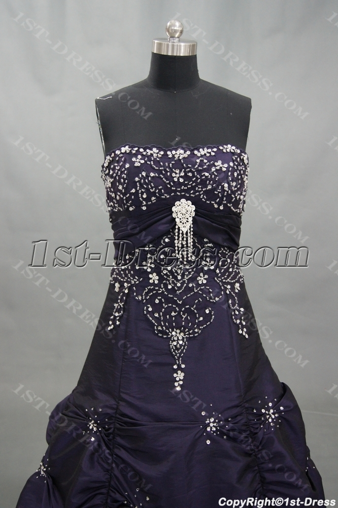 c7643d1d852 Ball Gown Floor-Length Taffeta Quinceanera Dress With Embroidered Beading  02982 1st-dress.com