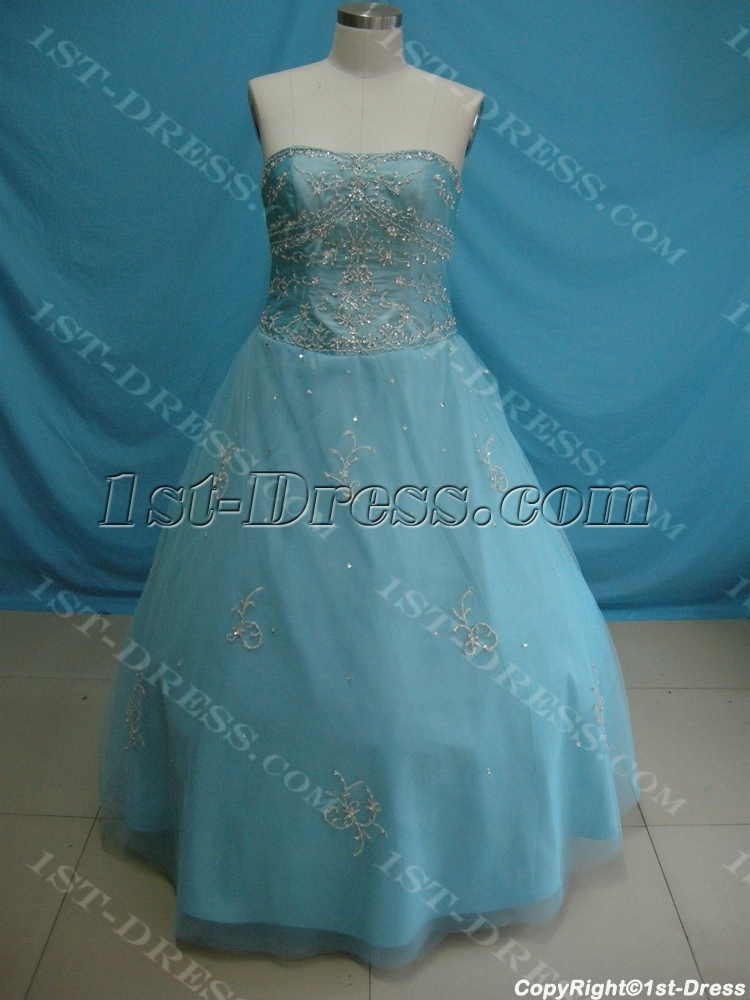 Ball Gown Princess Strapless Long / Floor-Length Taffeta Tulle Plus ...