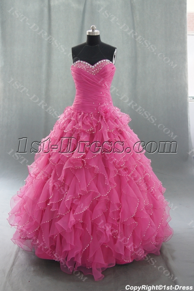 99d45cef5c4 Ball Gown Princess Strapless Sweetheart Floor-Length Satin Organza Quinceanera  Dress 05059