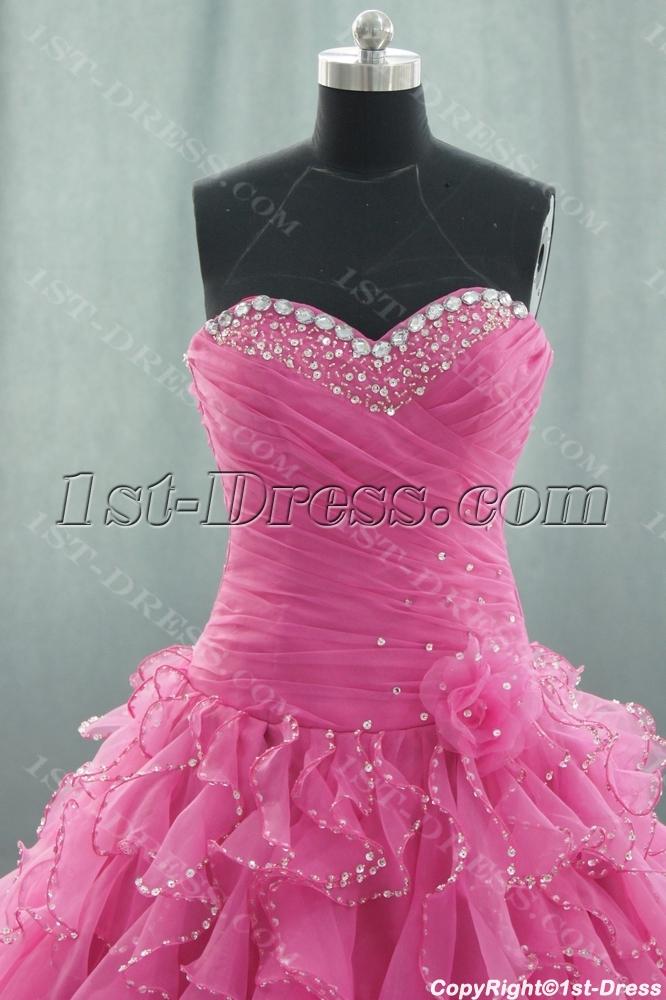 81b1b2c3b6 Ball Gown Princess Strapless Sweetheart Floor-Length Satin Organza  Quinceanera Dress 05059 1st-dress.com