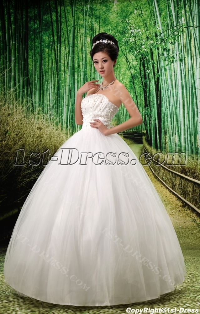 images/201306/big/Ball-Gown-Strapless-Satin-Tulle-Wedding-Dress-With-Beadwork-2072-b-1-1371845630.jpg