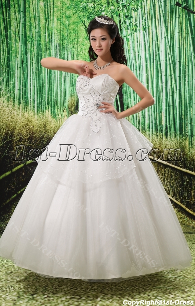 67bcc56a7fe Ball-Gown Sweetheart Court Train Satin Tulle Wedding Dress With Ruffle Lace  Beadwork