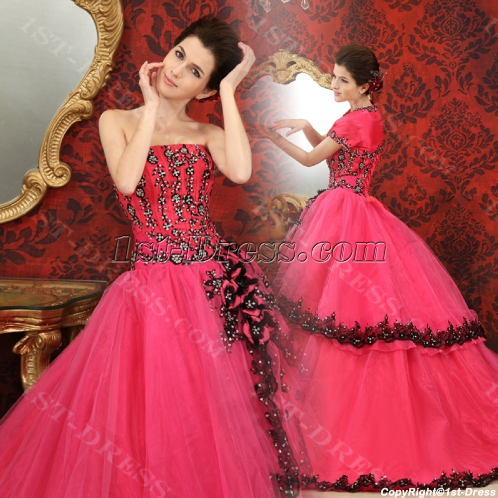 c7c70534e68 Ball-Gown Sweetheart Floor-Length Organza Quinceanera Dress With  Embroidered Ruffle Beading Sequins H-117