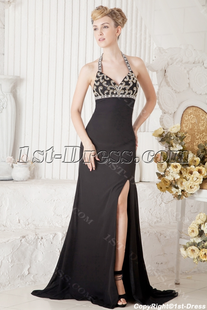 images/201306/big/Black-Halter-Sexy-Formal-Gown-with-Slit-2110-b-1-1372167302.jpg