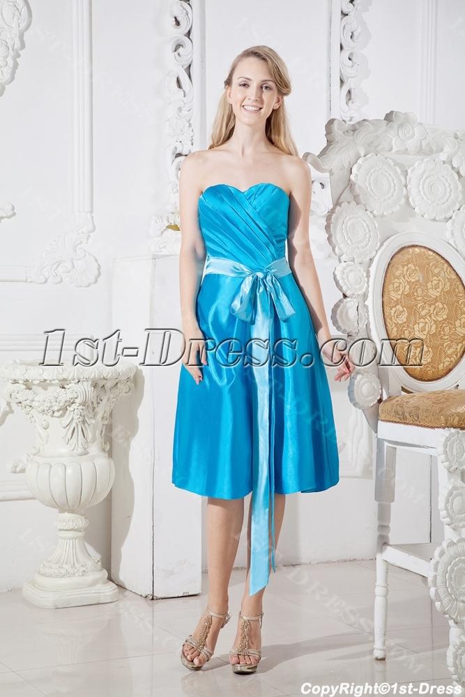 images/201306/big/Blue-Short-Modest-Bridesmaid-Prom-Dress-with-Sash-2024-b-1-1371808816.jpg