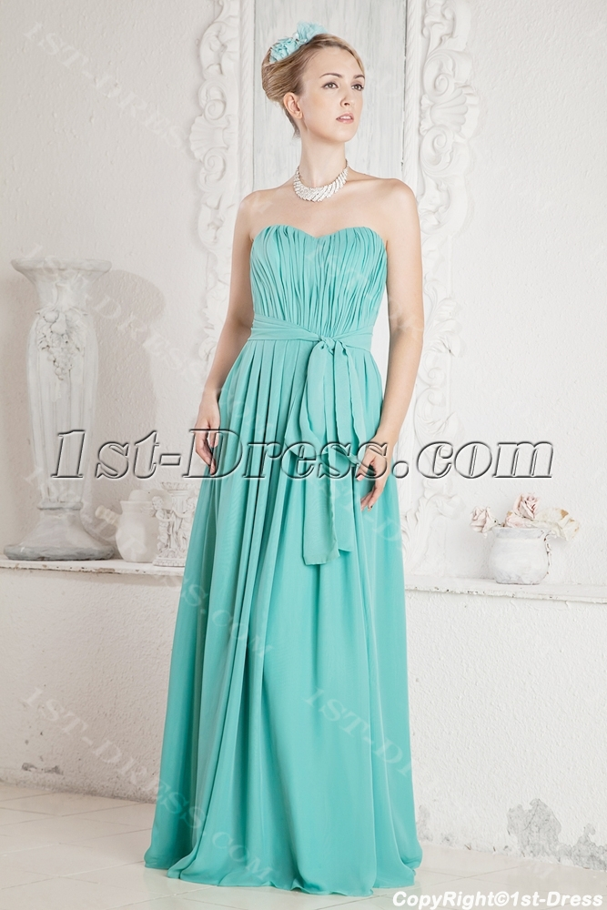 Blue Simple Plus Size Prom Dress