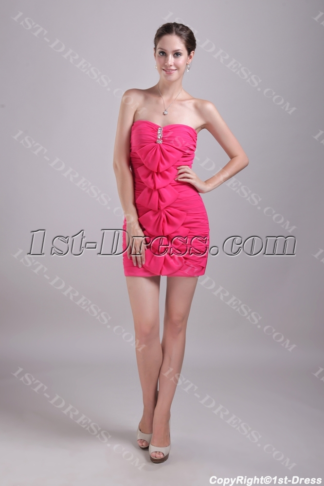 Column Short Semi Formal Dress For Graduation Ceremony1st Dress